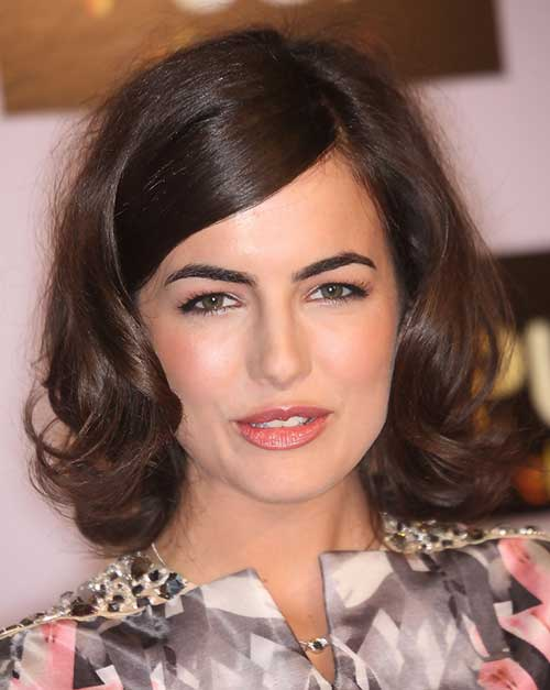 Short-Cute-Hairstyle-for-Thick-Curly-Bob-Hair-Cut Cute Short Hairstyles For Thick Hair
