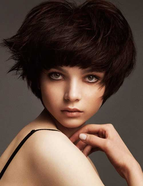 Short-Cute-Hairstyle-for-Thick-Dark-Pixie-Bob-Hair-Cut Cute Short Hairstyles For Thick Hair