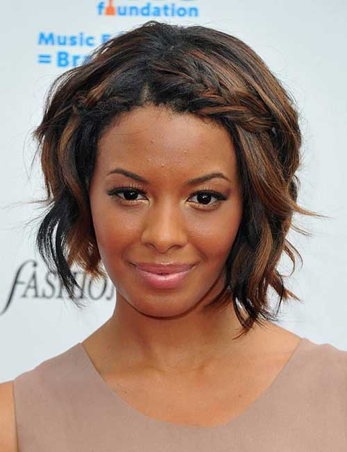 Short-Hairstyle-with-Braided-Bangs-for-Black-Women New Short Hairstyles With Bangs For Black Women