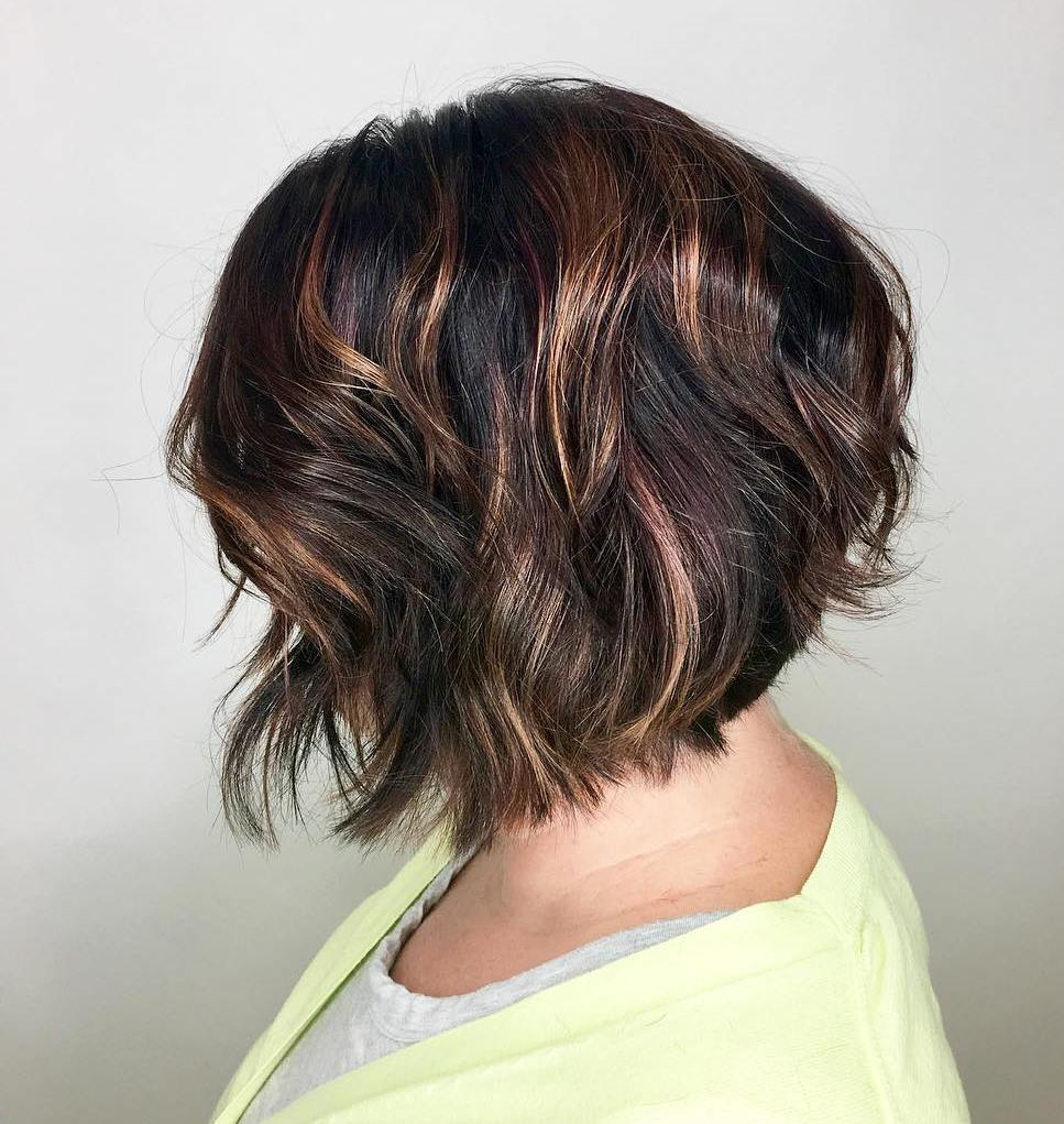 Short-Layered-Brunette-Bob Contemporary Hairstyles for an Amazing Appearance
