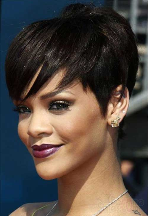 Short-Pixie-Cut-with-Bangs-for-Black-Women New Short Hairstyles With Bangs For Black Women