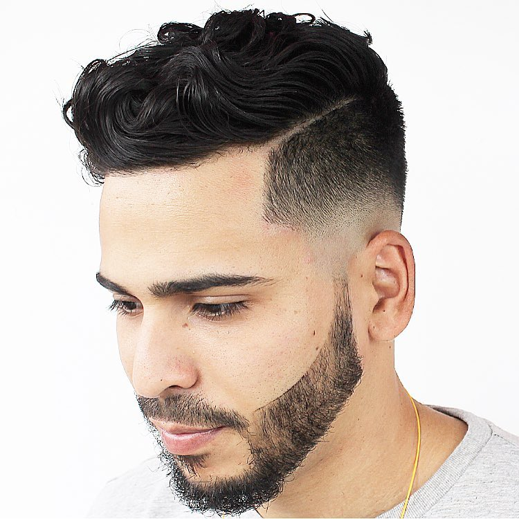 Side-Parted-Hairstyle-with-Waves Cool and Charming Natural Hairstyles for Men