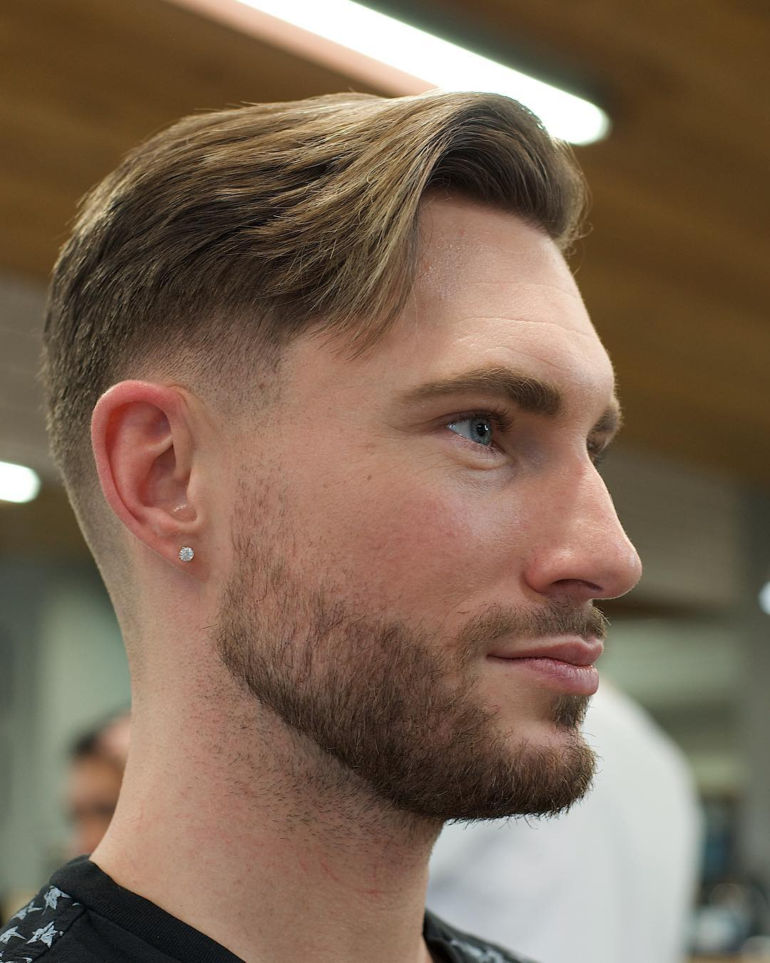 Side-Swept-Hair Cool and Charming Natural Hairstyles for Men