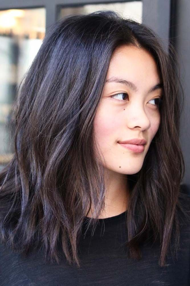 Wavy-Asian-Hairstyle Contemporary Hairstyles for an Amazing Appearance