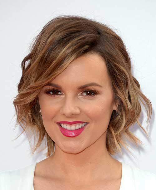 Ali-Fedotowsky's-Chic-Wavy-Short-Haircut Short Trendy Hairstyles 2020