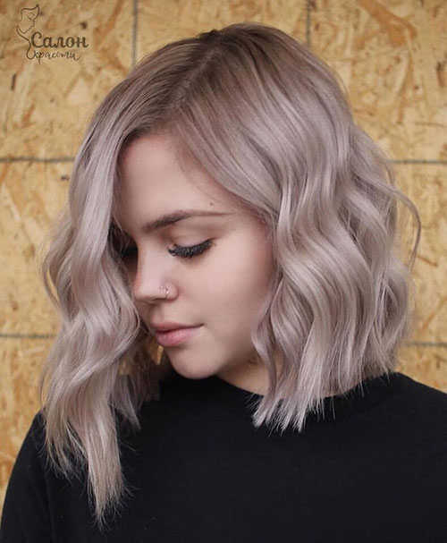 Asymmetrical-Long-Bob Lastest Hairstyles For Short Wavy Hair