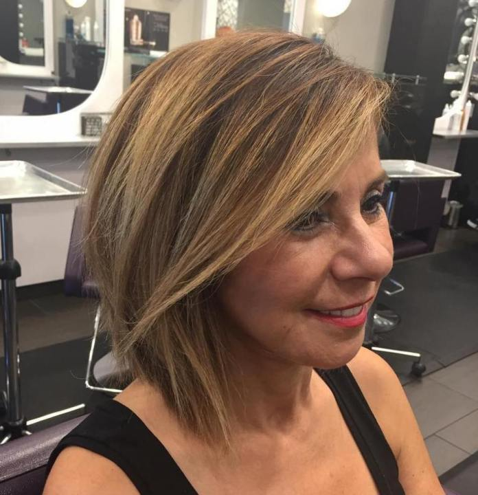 Auburn-for-Cold-Season Gorgeous Hairstyles and Haircuts for Women Over 40