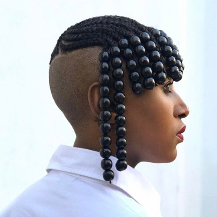 Bangs-and-Beads Tribal Braids for Super Trendy Appearance