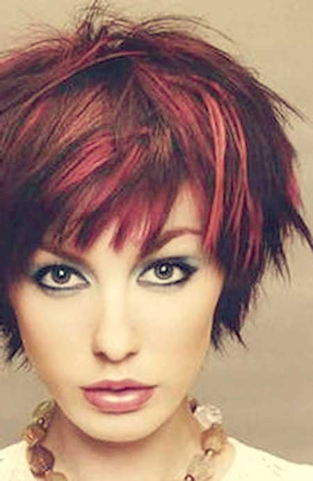 Beautiful-Red-Shades-Combo Short hair color ideas