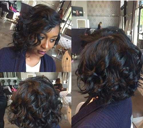 Black-Curly-Bob-Hairstyle Black Girl Bob Hairstyles