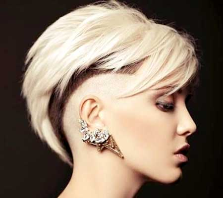 Blonde-Colored-Undercut-Hairstyle-for-Girls Short Hair Colors Ideas 2020