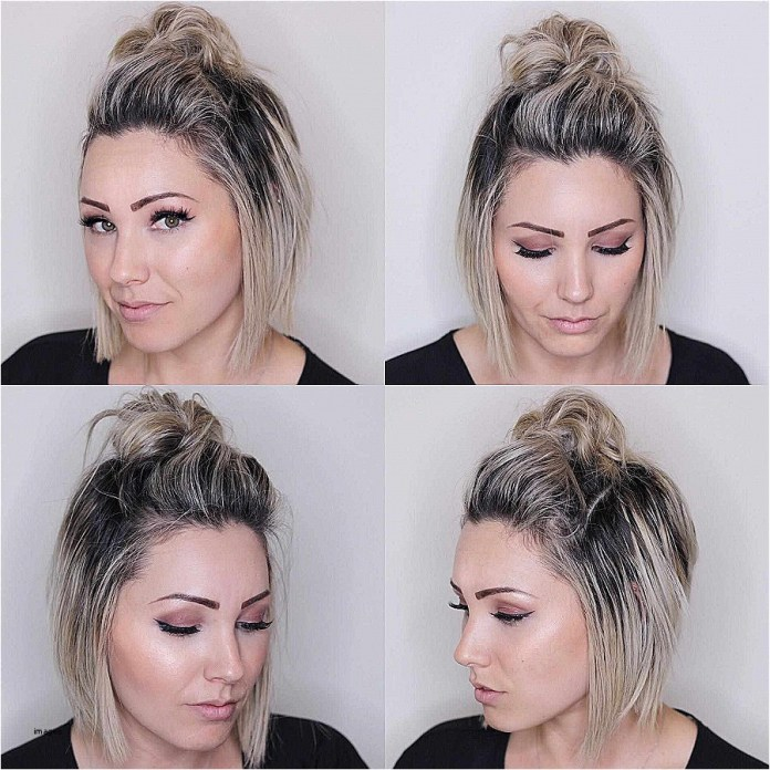 Blonde-Hair-with-Puff-Bun Mesmerizing Back to School Hairstyles