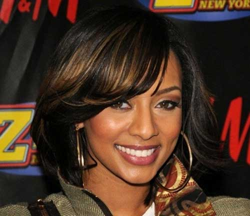 Bob-Hairstyle-with-Side-Bangs 15 On-trend Bob Haircuts For Black Women