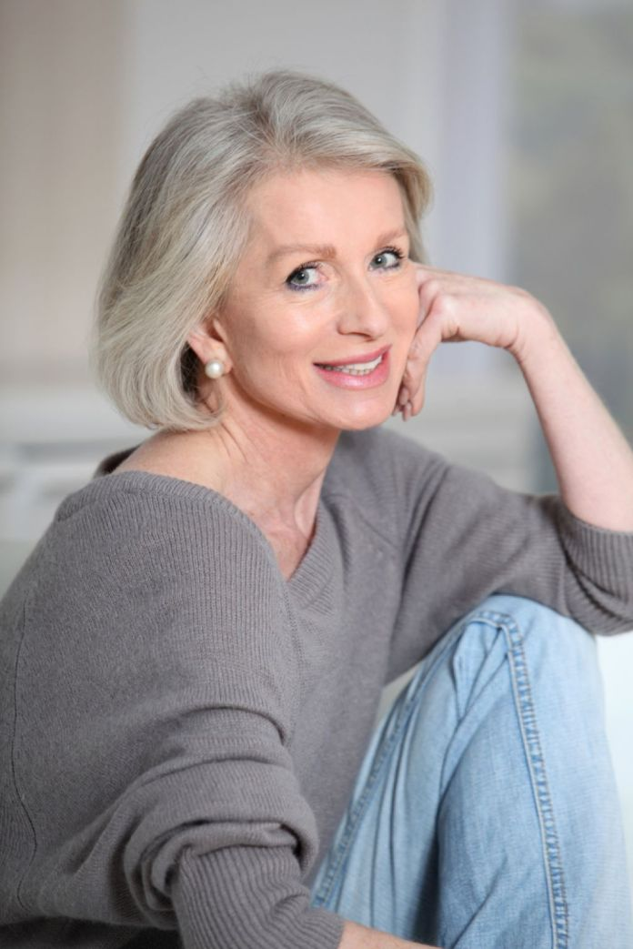 Bold-and-Blunt Glamorous Grey Hairstyles for Older Women