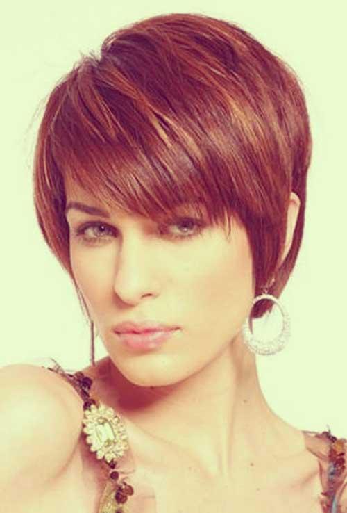 Bronze-highlights-for-dark-hair Best Short Straight Hair for Women