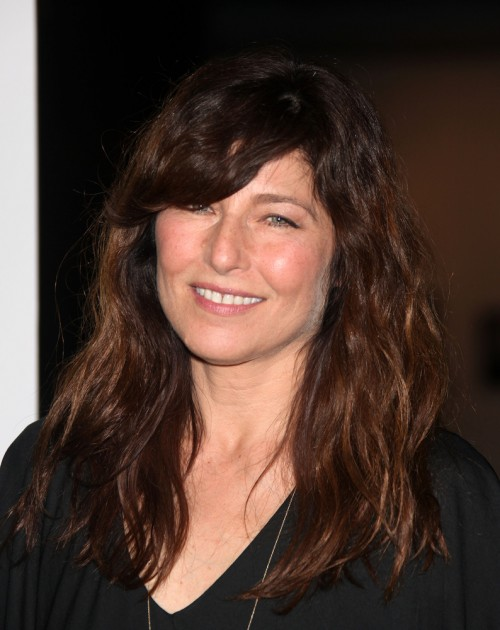 Brunette-Hairstyle-with-Waves-and-Side-Bangs Long Hairstyles for Women Over 50 – Look Trendy And Fashionable