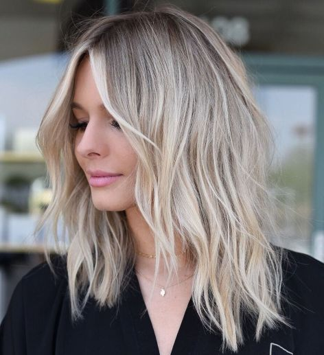 Choppy-Shoulder-Length-Shag Shoulder-length hairstyles, the most popular hairstyle