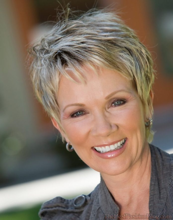 Close-Cropped-Hair-with-Fine-Choppy-Layering Best Hairstyles For Women Over 50 With Fine Hair