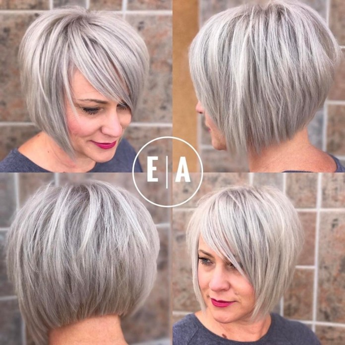 Concave-Bob Gorgeous Hairstyles and Haircuts for Women Over 40
