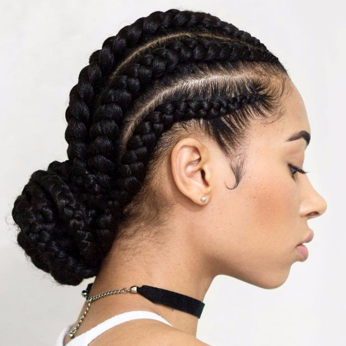 Cornrow-Braids-for-Long-Hair Braids Hairstyles for an Ultimate Princess Look
