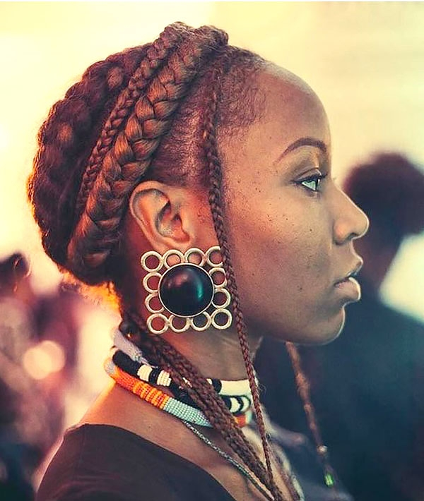 Crochet-Colorful-Braids-Hairstyle Tribal Braids for Super Trendy Appearance