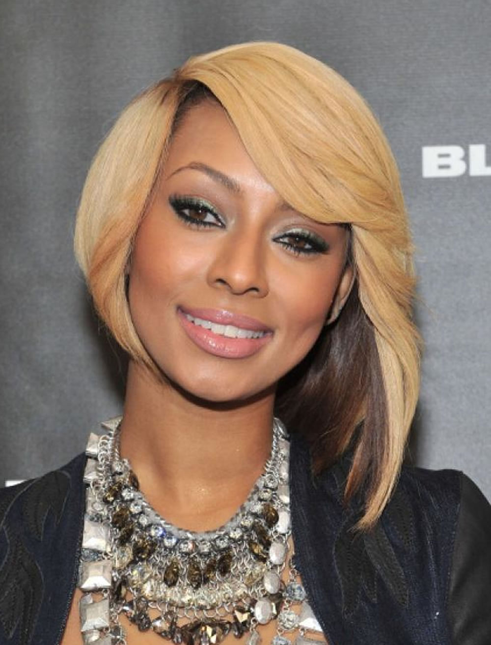 Crooked-Layered-Bob-Hairstyle Bob Hairstyles for Black Women for Rocking Look