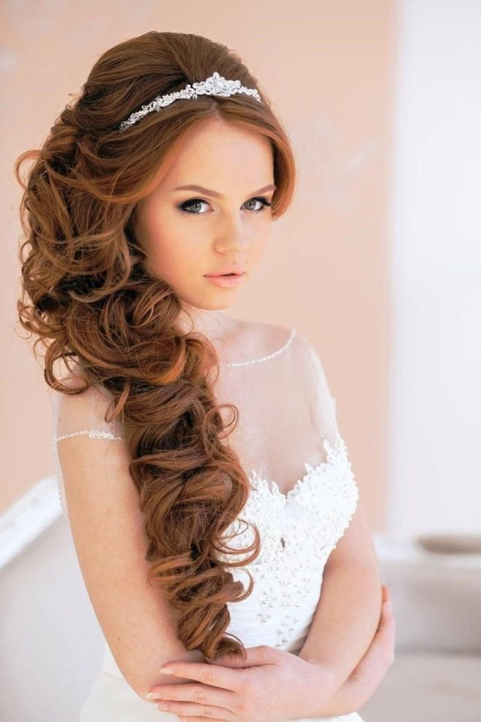 Curls-and-Tiara Hairstyles with Tiara for Glam and Fab Look