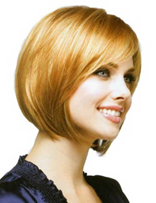 Cute-Angled-Bob-with-Side-Swept-Bangs Short Bob Hairstyles With Side Swept Bangs