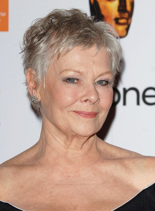 Dame-Judi-Short-Haircut-for-Women-Over-50 Hottest Short Layered Hairstyles For Women Over 50