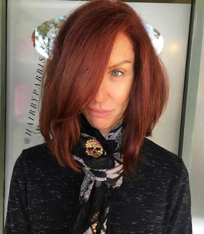 Dramatic-Red Gorgeous Hairstyles and Haircuts for Women Over 40
