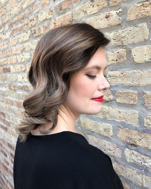 Fomal-curls Shoulder-length hairstyles, the most popular hairstyle