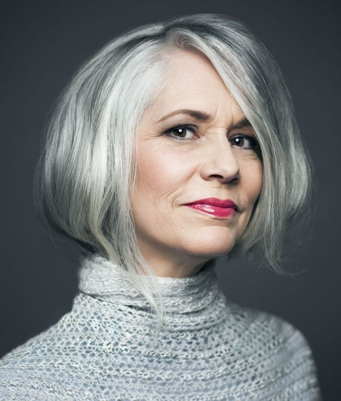 Hefty-Brusque Glamorous Grey Hairstyles for Older Women