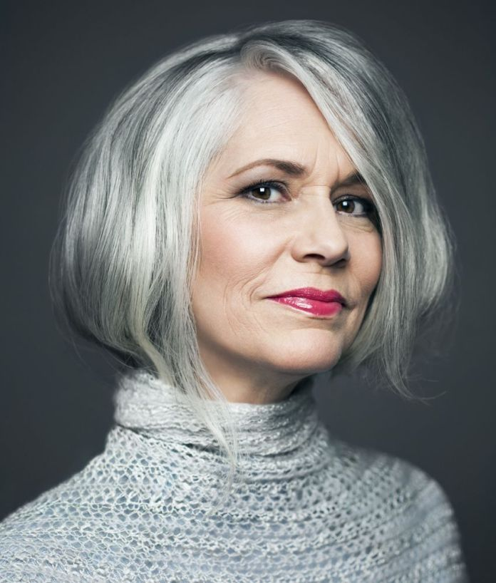 Hefty-Brusque Glamorous Grey Hairstyles for Older Women
