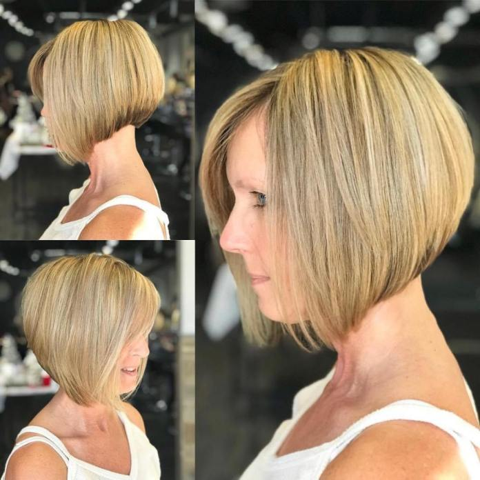 High-Low-Bob Gorgeous Hairstyles and Haircuts for Women Over 40