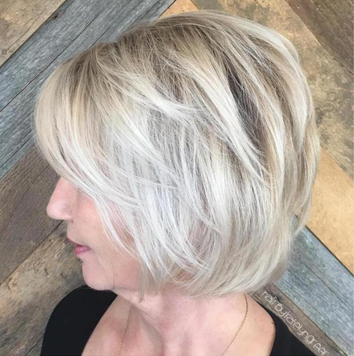 Icy-Blonde Gorgeous Hairstyles and Haircuts for Women Over 40