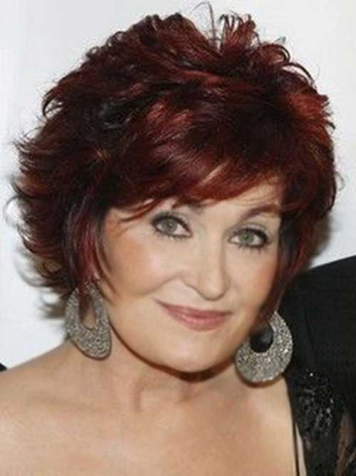 Layered-Red-Short-Hair-for-Women-Over-50 Pictures Of Short Haircuts For Over 50