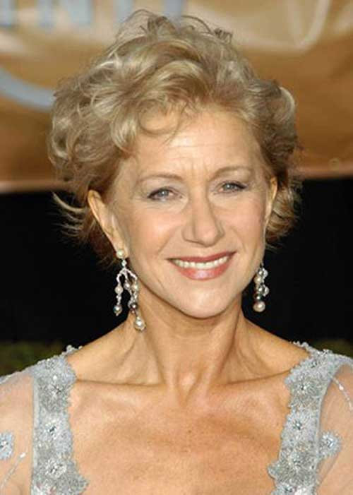 Light-Blonde-Curly-Pixie-Cut Curly Hairstyles for Women Over 50