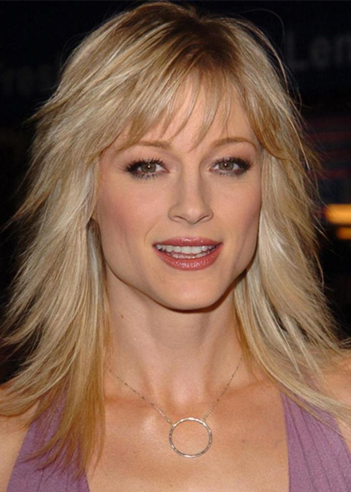 Long-Blonde-Choppy-Hair-with-Bangs Long Hairstyles for Women Over 50 – Look Trendy And Fashionable