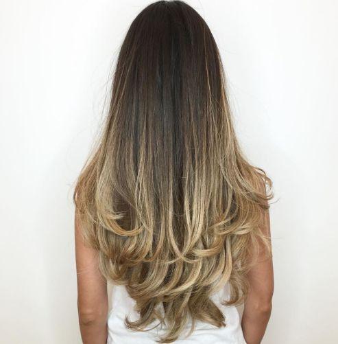Long-Dark-Hair-with-Blonde-Contour-Balayage 12 eye-catching longhair style