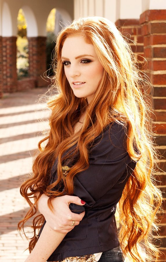 Long-and-Curly-Ginger-Red-Hair Redhead Hairstyles for Sultry and Sassy Look