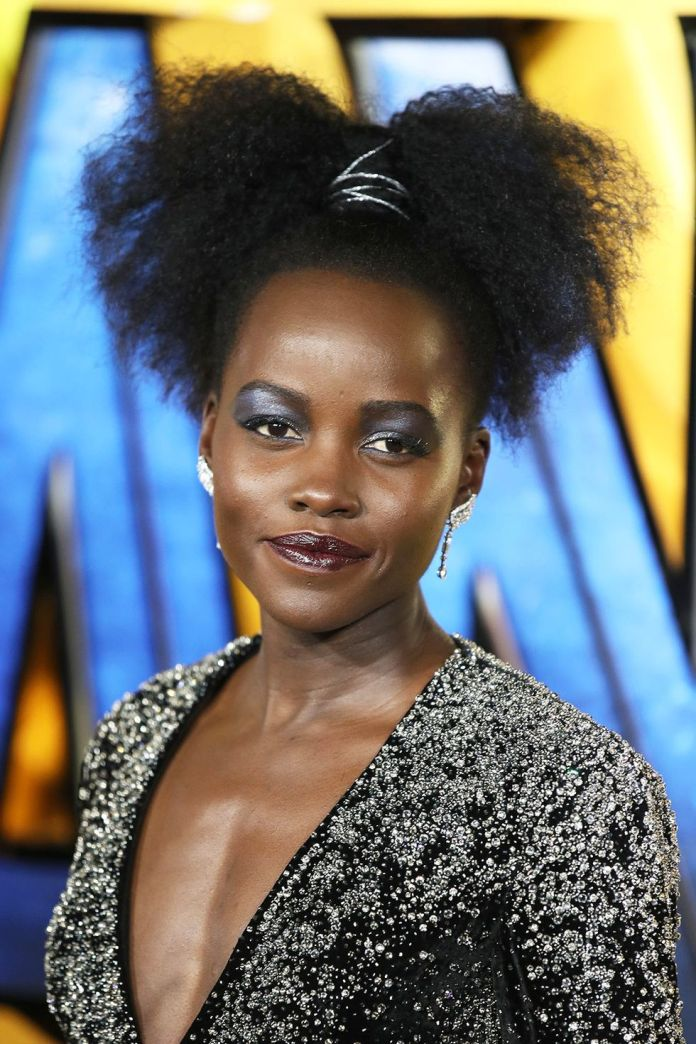 Lupita-Nyongos-Twisted-Ponytail Stunning Curly Hairstyles That Are All About That Texture