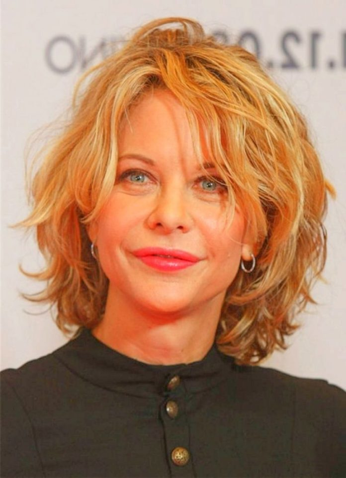 Messy-Curly-Blonde-Bob-with-Layers Curly Hairstyles for Women Over 50