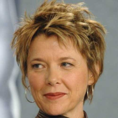 Messy-Spikes-Hairstyle-for-Short-Hair Short Hairstyles for Older Women