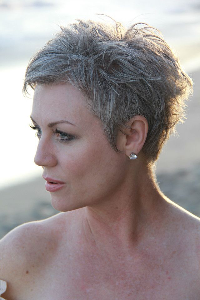 Messy-and-Sassy-Short-Pixie Easy Hairstyles for Women Over 50