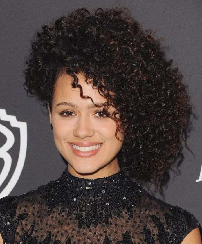 Nathalie-Emmanuels-Side-Swept-Curls Stunning Curly Hairstyles That Are All About That Texture