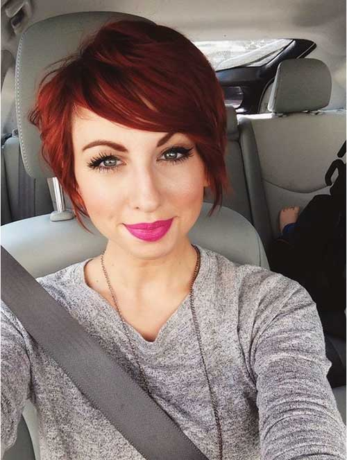 Nice-Red-Pixie-Hairstyle Pixie Hair Styles for 2020