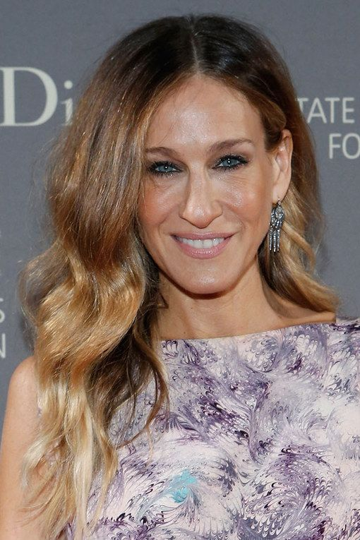Ombre-Long-Hair-with-Waves Wavy Hairstyles for Women Over 50 – Look Young And Beautiful