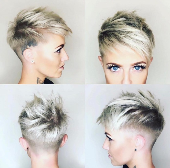 Pixie-with-Razored-Sides Edgy Haircuts for Women to Look Super Model