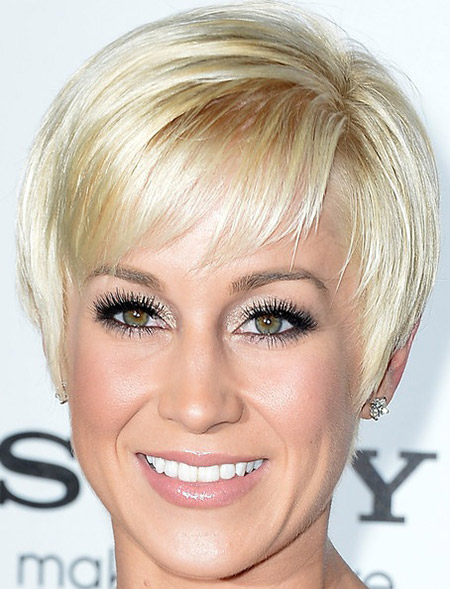 Platinum-Straight-Pixie Styles for Short Straight Hair