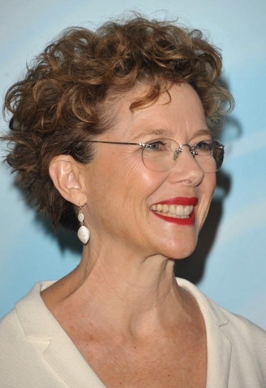 Razored-Cut-Short-Curly-Hair Curly Hairstyles for Women Over 50